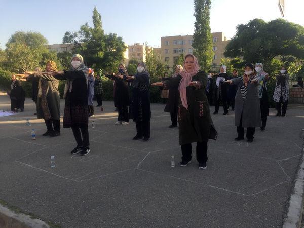 آغاز فعالیت ایستگاه های ورزش صبحگاهی شمال شرق تهران با رعایت پروتکل های بهداشتی
