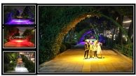 اجرای نورپردازی در باغ راه ها و بوستان های منطقه 15
