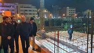 بازدید شبانه معاون فنی و عمرانی شهرداری تهران از پروژه احداث ساختمان بلدیه