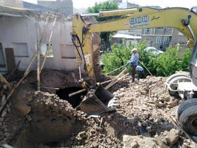 تملک و تخریب املاک حادثه خیز حاشیه رودخانه محله دروازه کرهرود