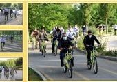 رکاب زنی دوستداران محیط زیست منطقه14 برای ترویج فرهنگ دوچرخه سواری