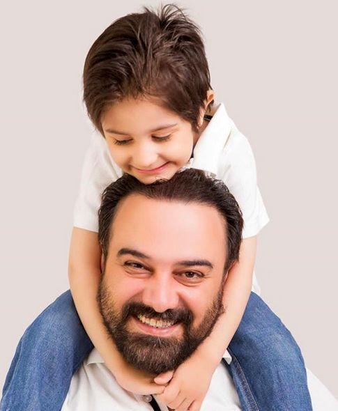 آرزوی ارجمند برای پسرش + عکس