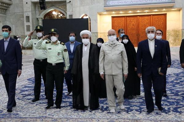 تجدید میثاق رئیس و اعضای ششمین دوره شورای اسلامی شهر تهران با آرمان های امام راحل