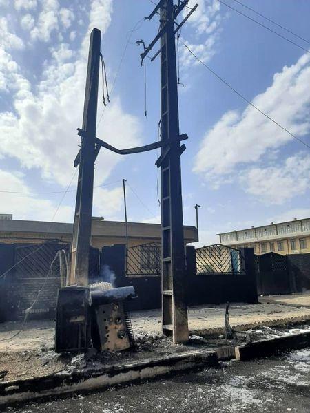 خسارت 25 میلیارد ریالی آتشسوزی شهرک شکوهیه به شبکه برق