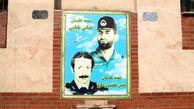 نصب و جانمایی  تابلوی تمثال ۱۰۲ شهید خلبان نیروی هوایی ارتش در خیابان پیروزی