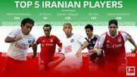 پنج فوتبالیست برتر ایرانی از نگاه رسانه آسیایی