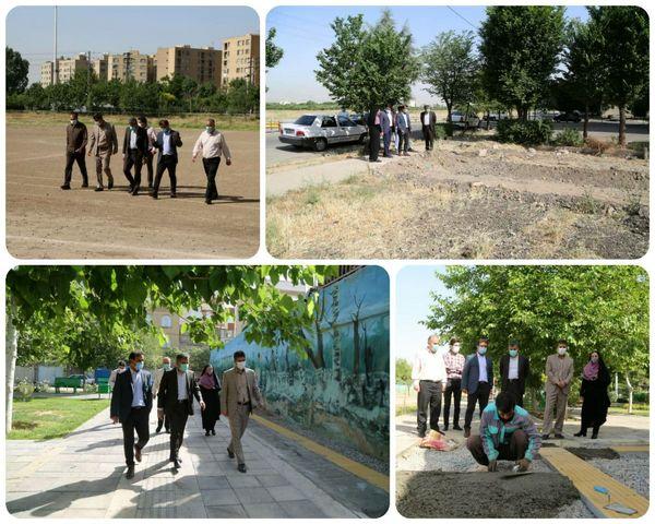 آغاز عملیات اجرایی احداث دو پاتوق محلی در منطقه ۱۵