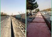اتمام طرح مصوب پیاده روسازی و احداث مسیر دوچرخه در خیابان سی متری امامت
