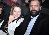 درگوشی مشکوک بهاره رهنما با همسرش+عکس
