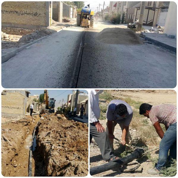 اجرا ۳۵۰۰ متر توسعه شبکه آبرسانی در بهبهان