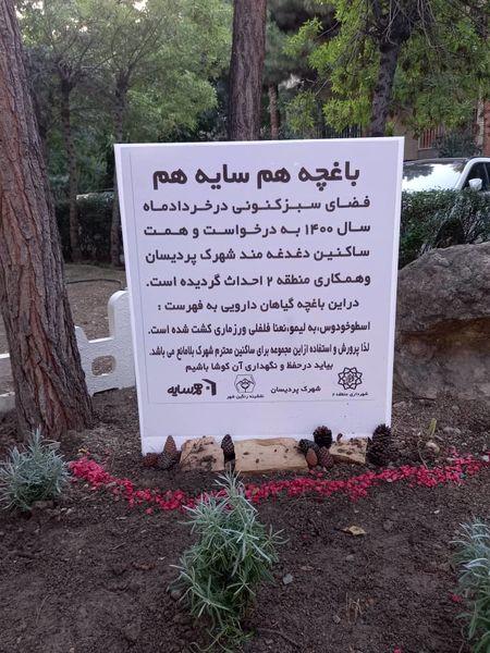 اجرای طرح باغچه همسایگی در شهرک پردیسان  منطقه 2