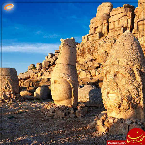 مجسمه های موجود در کوه نمرود! +عکس