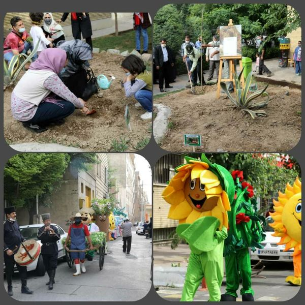 احداث باغچه سبز محله من