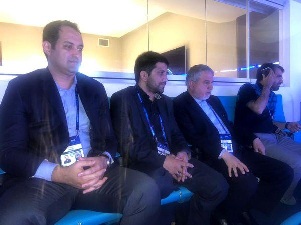 رییس کمیته ملی المپیک تماشاگر ویژه مرحله فینال رقابت های جهانی کشتی