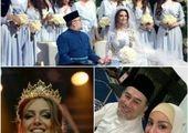 طلاق پادشاه سابق مالزی از ملکه زیبایی روس +عکس