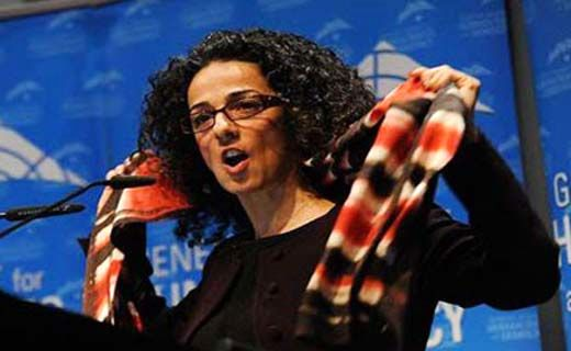 خواهر انقلابی مسیح علینژاد +عکس