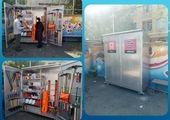 نصب و جانمایی دومین کانکس تجهیزات امداد و نجات در منطقه۱۳