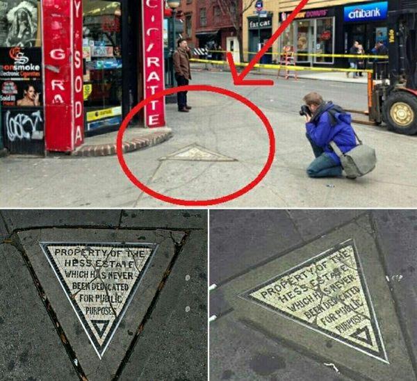 یک قطعه زمین شخصی وسط پیاده رو +عکس