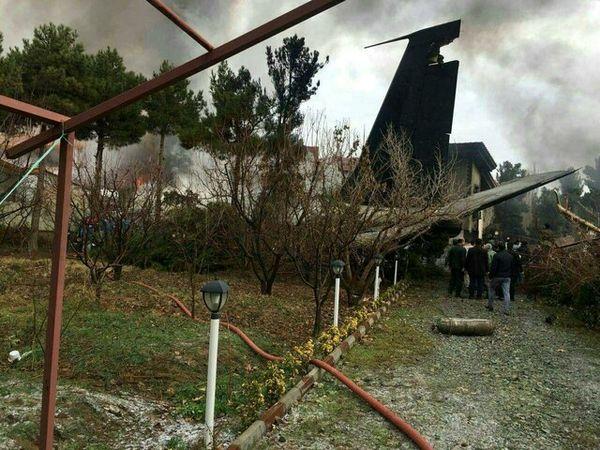 سقوط هواپیمای بوئینگ باری در کرج