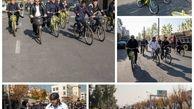 تردد مدیران شهری منطقه9 با دوچرخه