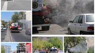 خیابان های هاشمی و شمشیری با ۸۰۰۰هزار لیتر مواد بهداشتی ضد عفونی شد