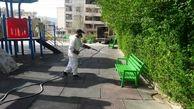 شستشو و ضد عفونی مداوم المان های شهری شمال شرق تهران در آستانه تابستان