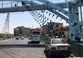اهتزاز پرچم حرم امام حسین(ع) در منطقه۱۳ و تجلیل از پیرغلامان و خادمان