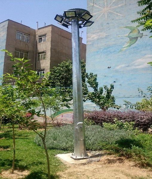 تامین روشنایی 17 برج نوری در بوستان های شمال شرق پایتخت