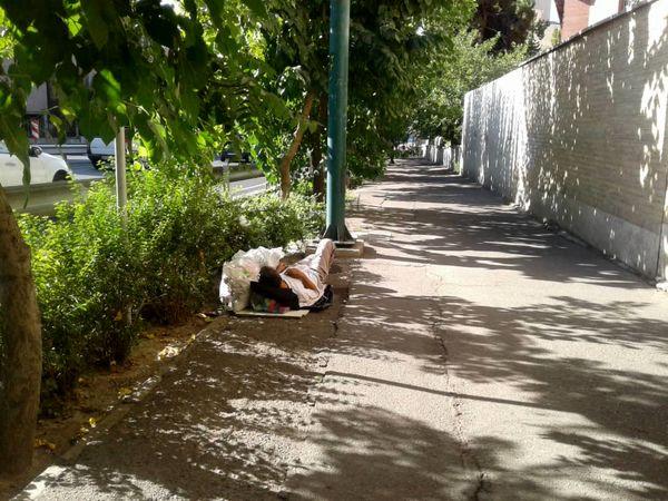 پاکسازی  نقاط بی دفاع شمال شرق تهران از معتادان و افراد کارتن خواب