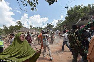 تخریب ناگهانی ساختمان در لحظه وقوع زلزله + عکس