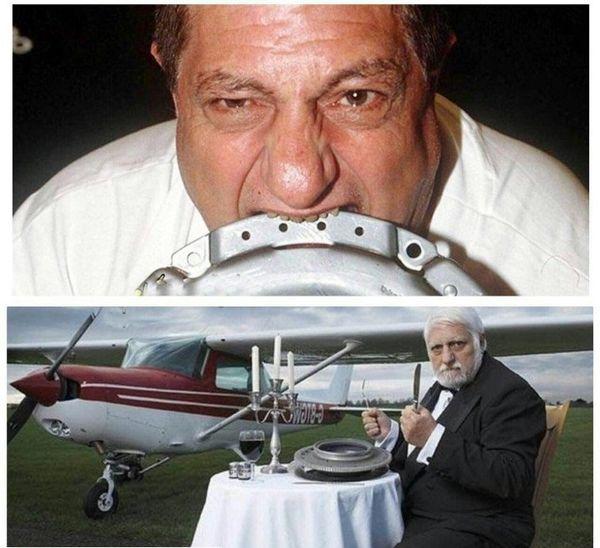 مردی که یک هواپیما را خورد+عکس