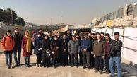 بازدید جمعی از دانشجویان دانشگاه تربیت مدرس از زیرگذر کوی نصر