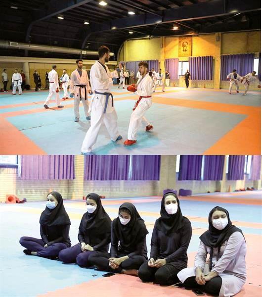 پیگیری تمرینات تیم های ملی کاراته آقایان و بانوان در آکادمی ملی المپیک