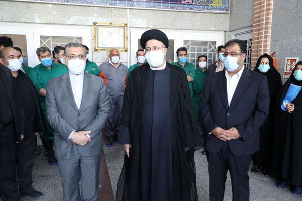 خدا قوت رییس جمهور به پرسنل ایثارگر بهشت زهرای تهران