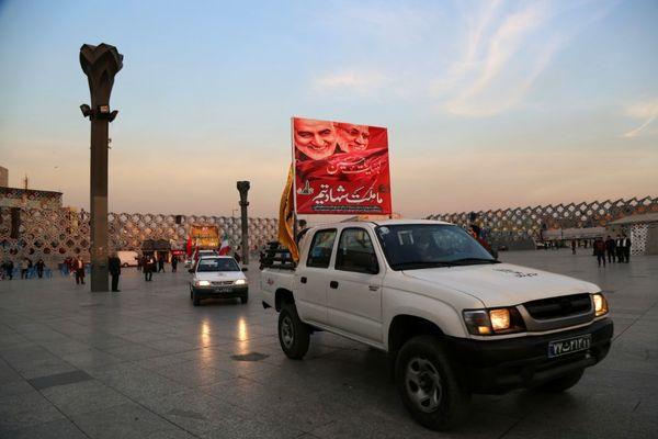 سوگواری برای مرد میدان در قلب طهران