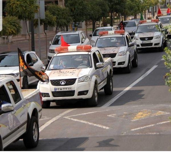 حرکت کاروان خودرویی عزاداری حسینی  در محلات منطقه ۲