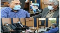 دیدار مدیر عامل شرکت آب وفاضلاب استان مرکزی با فرماندار ساوه