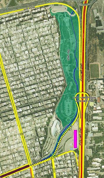 شمارش معکوش برای آغاز پروژه احداث تقاطع غیرهمسطح (جنوب به جنوب) بزرگراه شهید چمران