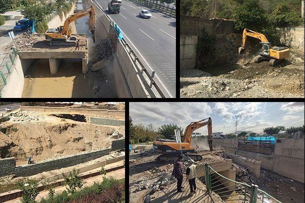 عملیات نگهداشت عمرانی شبکه اصلی مدیریت سیلاب پایتخت ادامه دارد