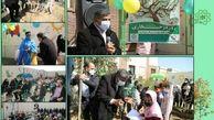 غرس نهال توسط کودکان پرتوی مرکز خدمات اجتماعی شهرداری منطقه 15