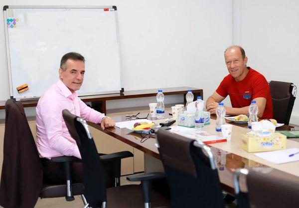 دیدار کالدرون با مدیرعامل جدید پرسپولیس