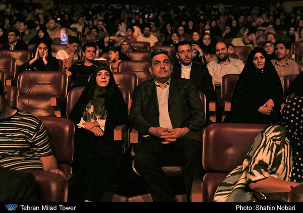 حضور شهردار تهران در کنسرت وداع سراج در برج میلاد