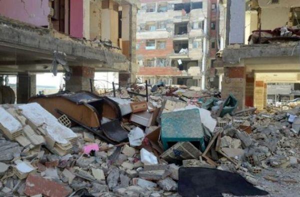 توزیع سبد کالا در مناطق زلزله زده+عکس