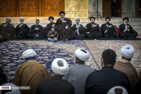 احمد خمینی بار دیگر در جایگاه ویژه هیات!/عکس