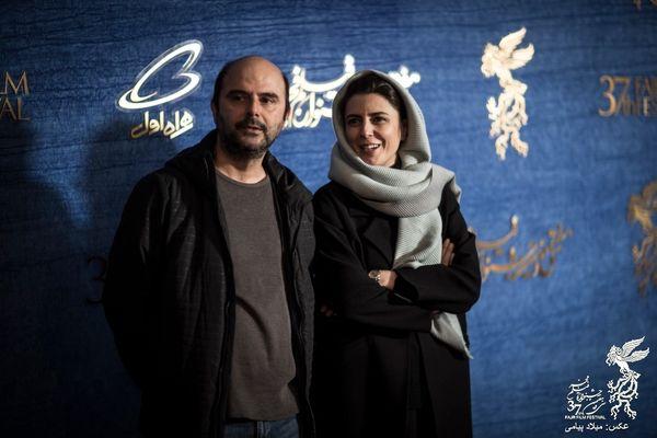 لیلا حاتمی و همسرش در جشنواره فیلم فجر+ عکس
