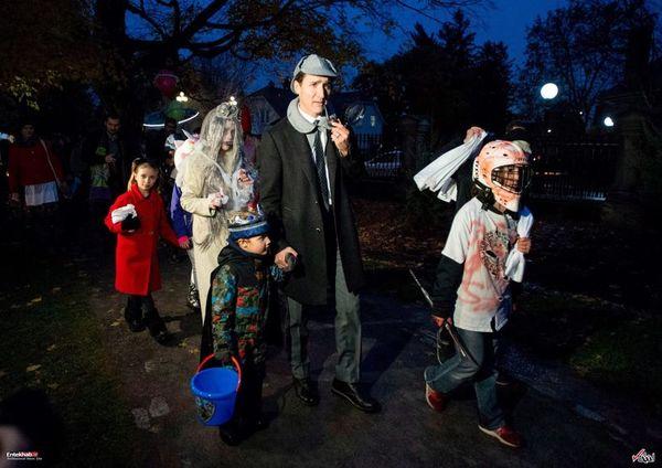 آقای نخست وزیر و همسرش در جشن هالووین +عکس