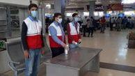 استقرار ناظرین سلامت در فرودگاه اهواز