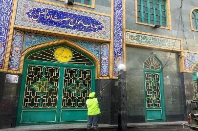 مساجد شمال شرق تهران ضدعفونی شد