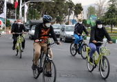 محدوده بزرگراه آزادگان در منطقه ۲۱ با دوچرخه پیموده شد
