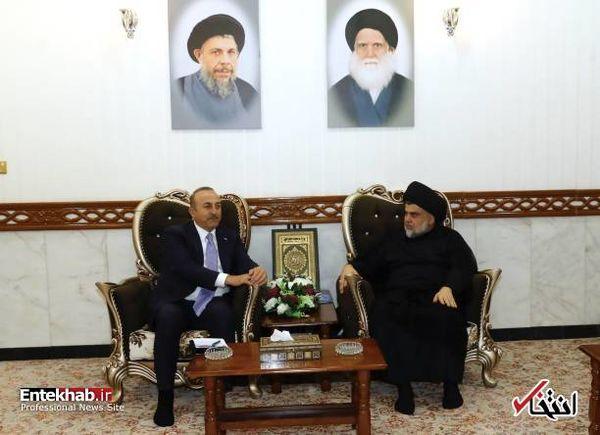 حضور وزیر خارجه ترکیه در حرم امام علی+عکس